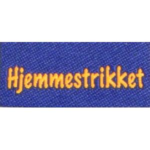 Label dubbelsidig Hjemmestrikket Marinblå