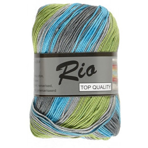 Lammy Rio Garn Long Print 904 Skog 100 gram