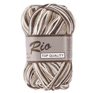Lammy Rio Garn Print 620 Vit/Grå/Svart 50 gram