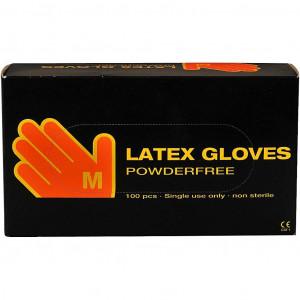 Latex engångshandskar str. M - 100 st.