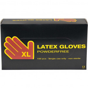 Latex engångshandskar str. XL - 100 st.