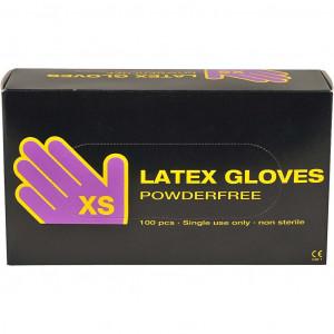 Latex engångshandskar str. XS - 100 st.