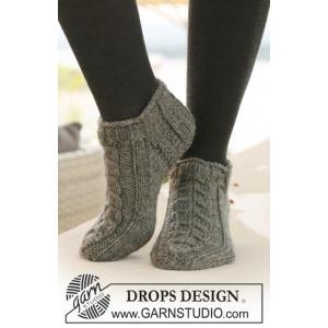 Leaf Ankle Socks by DROPS Design - Sokker Stick-opskrift strl. 35/37 -
