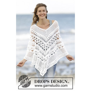 Light's Embrace by DROPS Design - Poncho Virk-mönster  strl. S/M - XXL