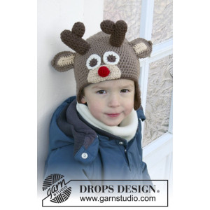 Little Rudolph by DROPS Design - Mössa Virk-opskrift strl. 6/9 mdr - 9