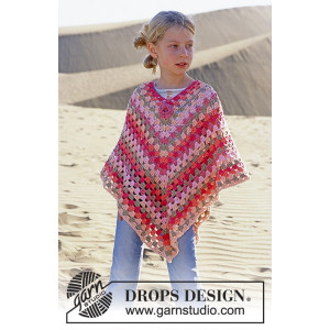 Little Sophie by DROPS Design - Poncho Virk-opskrift str. 5/7 - 12/14