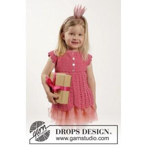 Lovely Rose by DROPS Design - Barnjacka Virk-opskrift strl. 12/18 mdr