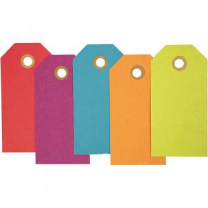 Manillamärken 5x10 cm 20 st. Blandade färger