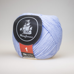 Mayflower Cotton 1 Garn Unicolor 123 Ljus Blå