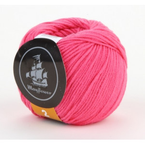 Mayflower Cotton 2 Garn Unicolor 227 Cerise
