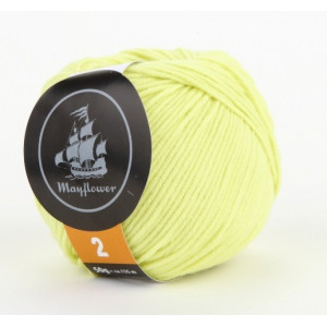 Mayflower Cotton 2 Garn Unicolor 228 Lime