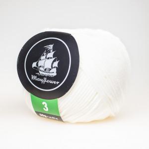 Mayflower Cotton 3 Garn Unicolor 321 Natur