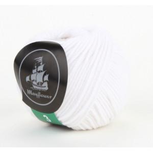 Mayflower Cotton 3 Garn Unicolor 322 Vit