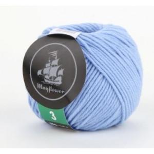 Mayflower Cotton 3 Garn Unicolor 323 Ljus Blå