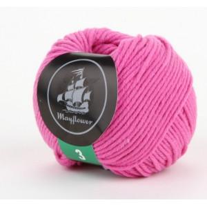 Mayflower Cotton 3 Garn Unicolor 326 Mörkrosa