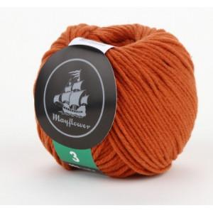 Mayflower Cotton 3 Garn Unicolor 329 Rost