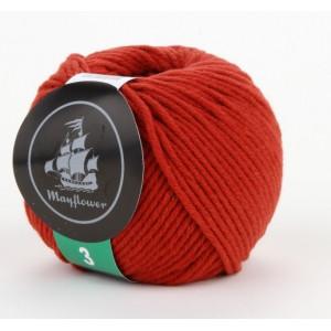 Mayflower Cotton 3 Garn Unicolor 330 Roströd