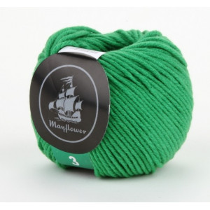 Mayflower Cotton 3 Garn Unicolor 332 Grön