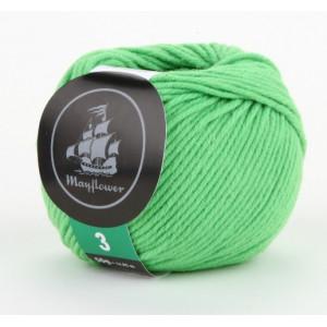 Mayflower Cotton 3 Garn Unicolor 333 Ljus Grön