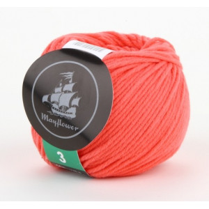 Mayflower Cotton 3 Garn Unicolor 334 Korall