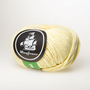 Mayflower Cotton 3 Garn Unicolor 352 Ljus Gul