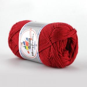 Mayflower Cotton 8/4 Junior Garn Unicolor 1412 Mörkröd