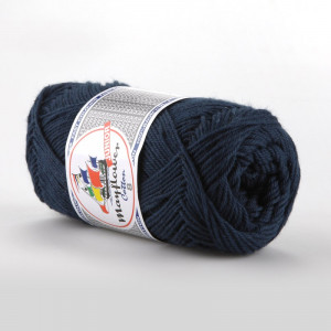 Mayflower Cotton 8/4 Junior Garn Unicolor 1423 Marinblå