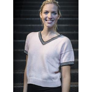 Mayflower Kortärmad Tröja med Kontrastkanter - T-shirt Stick-opskrift