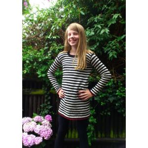 Mayflower Randig Barnklänning - Tunika Stick-opskrift strl. 8 år - 14