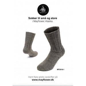 Mayflower Varma Sockor - Sockor Stick-opskrift str. 23/24 - 43/44