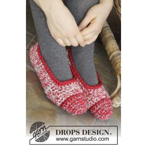 Merry Slippers by DROPS Design - Tofflor Virk-opskrift str. 35/37 - 42