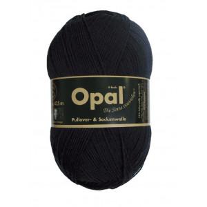 Opal Uni 4-trådigt Garn Unicolor 2619 Svart