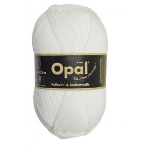 Opal Uni 4-trådigt Garn Unicolor 2620 Vit