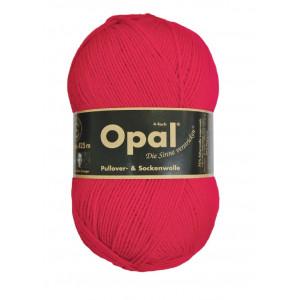 Opal Uni 4-trådigt Garn Unicolor 5180 Röd