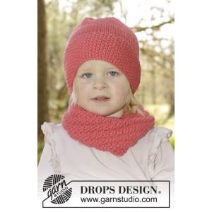 Papaya Punch by DROPS Design - Mössa og Halsvärmare Stick-opskrift str