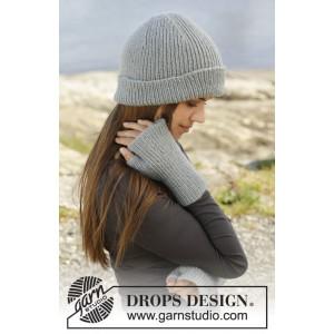 Paula by DROPS Design - Mössa och fingerlösa Vantar Stick-opskrift str