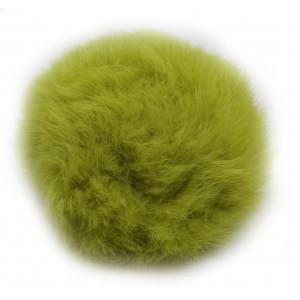 Pompon Tofs Kaninhår Lime 100 mm