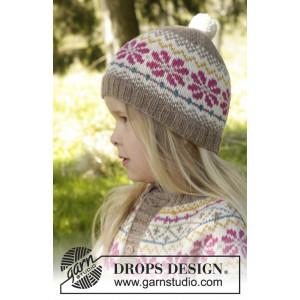 Prairie Fairy Hat by DROPS Design - Mössa Stick-opskrift strl. 3/5 - 9