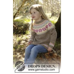 Prairie Fairy Jumper by DROPS Design - Tröja Stick-opskrift strl. 3/4