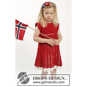 Princess Matilde by DROPS Design - Klänning och hårband Virk-opskrift