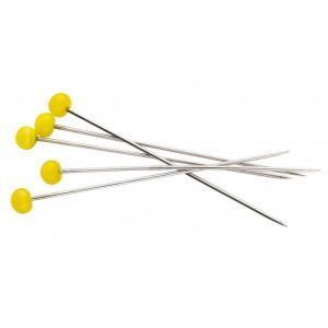 Prym Quilt knappnål med gult glashuvud 0