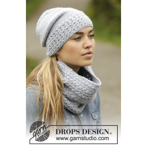 Queen of the Chill by DROPS Design - Mössa og hals Virk-opskrift strl.