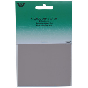 Reparationslapp Självhäftande Nylon Ljusgrå 10x20 cm - 1 st.