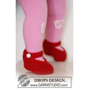 Rosy Toes by DROPS Design - Tofflor Virk-mönster strl. 1/3 mdr - 3/4 å