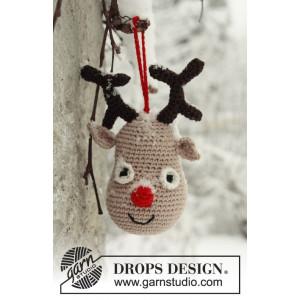 Rudolf by DROPS Design - Ren Julpynt Virk-mönster 14 cm