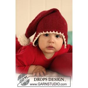 Santa Baby by DROPS Design - Baby Tomtemössa Stick-mönster strl. 1/3 m