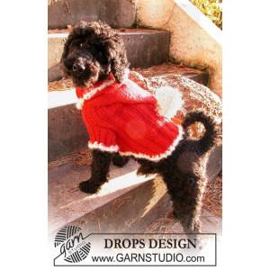 Santa Dog by DROPS Design - Hundtröja Stickbeskrivning strl. XS - M