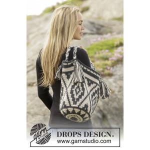 Santa Fe by DROPS Design - Väska Virk-mönster 67x34 cm
