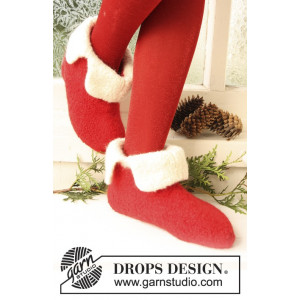 Santa Toe by DROPS Design - Filtade Tofflor Stick-opskrift strl. 21/23