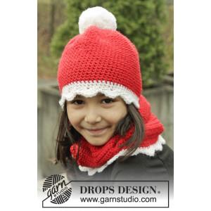 Santa's Favorite by DROPS Design - Mössa och Halsvärmare Virk-opskrift